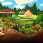 Art from a Chapel Hill High School student depicts a rain garden.