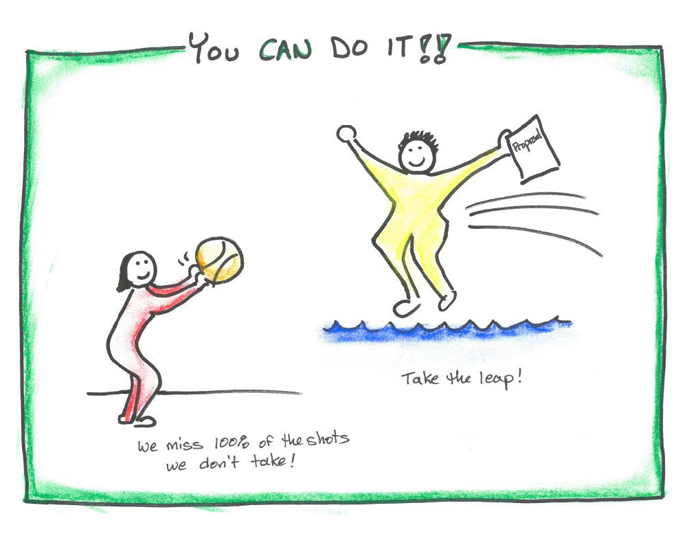 """drawing saying """"you can do it"""""""